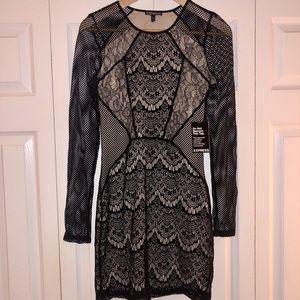 Express fishnet mini-dress. Halloween is here!